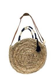 ANOUSHKA (SACS) round straw bag