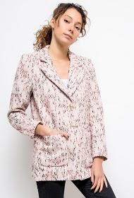 AZAKA II blazer effet tweed