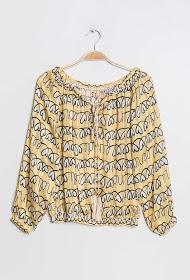 AZAKA II bluse mit aufgedruckten herzen