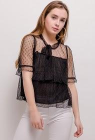 AZAKA II blouse en plumetis