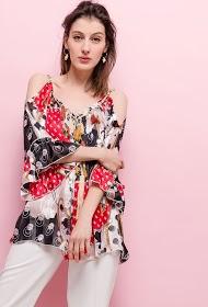 AZAKA II bedruckte bluse