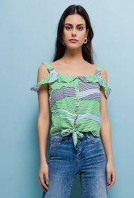 AZAKA II striped blouse