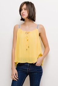 AZAKA II pleated tank top