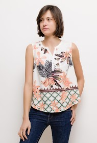 AZAKA II tropical tank top