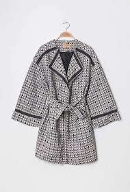 AZAKA II manteau à motifs