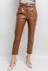 AZAKA II faux leather pants