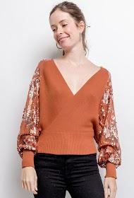 AZAKA II wrap sweater
