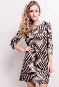 AZAKA II geometric patterned dress