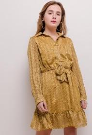 AZAKA II vestido camisero estampado
