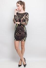 AZAKA II sequin dress