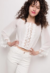 BACHELORETTE blouse in plumetis