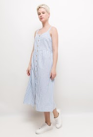 BACHELORETTE striped midi dress