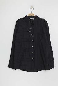 BELLOVE gesticktes und perforiertes hemd