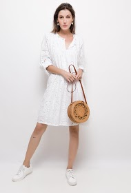 BELLOVE dress with english embroidery