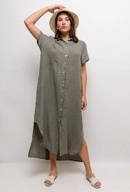 BELLOVE linen shirt dress