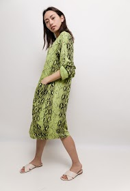 BELLOVE tunic with python print