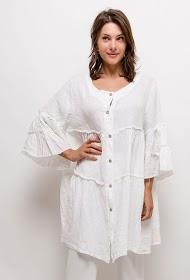 BELLOVE buttoned linen tunic