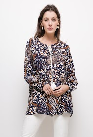 BELLOVE printed tunic with drawstring