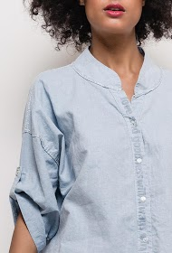 BLOSSUN shirt with lurex detail