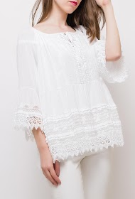 BLOSSUN blouse with sequins