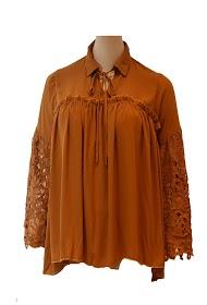 BUBBLEE blusa de camisa