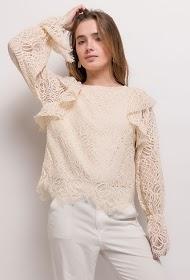 BY SWAN blouse en dentelle