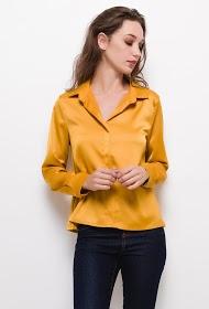 BY SWAN fluid shirt with shirt collar