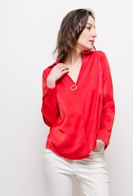 BY SWAN blouse with eyelet