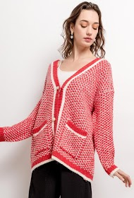 BY SWAN gilet avec boutons perles
