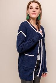 BY SWAN casaco bicolor