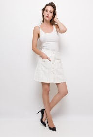 BY SWAN beaded tweed skirt