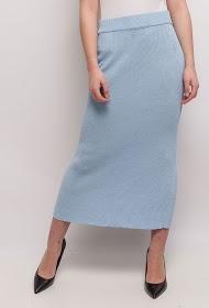 BY SWAN jupe longue en maille