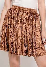 BY SWAN jupe plissée en velours
