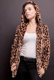 BY SWAN casaco de pele de leopardo