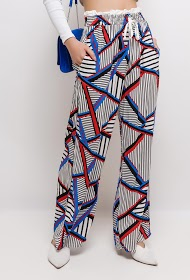BY SWAN wide printed trousers