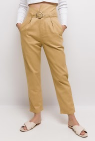 BY SWAN belted high waist trousers