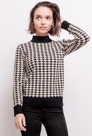 BY SWAN houndstooth sweater