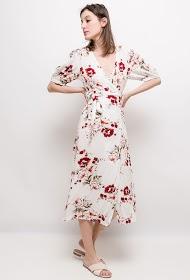 BY SWAN robe cache-cœur fleurie