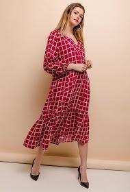 BY SWAN checked midi dress