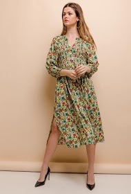 BY SWAN printed midi dress