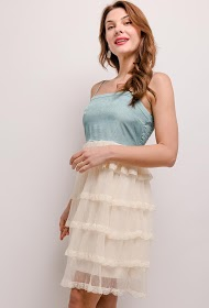 BY SWAN robe volantée
