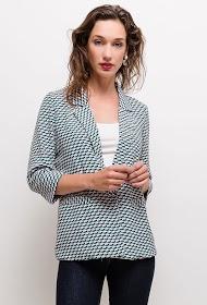 CERISE BLUE patterned blazer