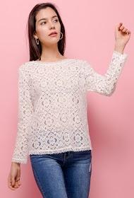 CERISE BLUE lace blouse