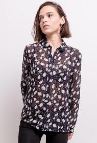 CERISE BLUE camisa com estampa floral