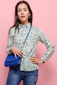 CERISE BLUE flower print shirt