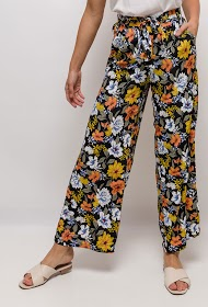 CERISE BLUE wide printed trousers