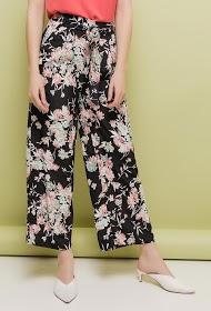 CERISE BLUE tropical wide trousers