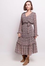 CERISE BLUE printed long dress