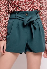 CERISE BLUE shorts with belt