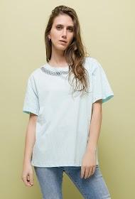 CHERRY BLOOM t-shirt with rhinestones